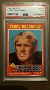 1971 Topps Football 156 Terry Bradshaw Rookie Card Psa 3 Vg Pittsburgh Steelers