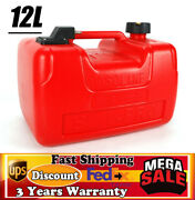 12l 3gal Gas Tank Gasoline Diesel Outboard Fuel Tank For Boat Portable+connector
