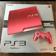 Sony Ps3 Playstation 3 320gb Scarlet Red Cech-3000b Game Console Used Boxed