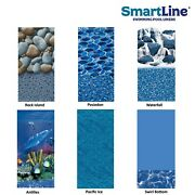 Smartline 25 Gauge 18and039 Round Overlap Swimming Pool Liner 48/52 Wall Height