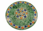 48and039and039 Marble Dining Table Top Inlay Rare Stones Round Center Coffee Table Rf