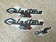 Glastron Decal With Grand Prix Flags 13 X 4 33 Cm X 10 Cm + Extra Decal