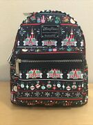 Loungefly Holiday Mini Backpack Disney Parks Mickey Christmas Ugly Sweater 2020