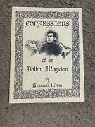 🔥 Confessions Of An Italian Magician By Giovanni Livera -card And Coin Magic
