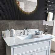 Bathroom Vanity Top Stone With Rectangle Undermount Sink And Back Splash Marble