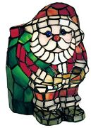 High Santa Claus 9 Style Stained Glass Accent Lamp 17241