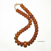 1 Strand Antique African Amber Faux Amber Beads Germany African Trade 115e