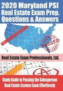 2020 Maryland Psi Real Estate Exam Prep Questions And Answers Study Guide...