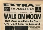 Rare Newspaper Los Angeles Times 21 July 1969 Man Walks On The Moon Small Step