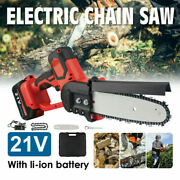 10and039and039 Mini Electric Cordless Chainsaw Battery Powered Chain Saw Pruning Shears