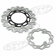 Front Rear Brake Disc Rotor Black Steel Bicycle Fit For Yamaha Yzf R3/r25 15-16