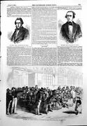 Antique Print French Loan Hotel Minister Finance Dr Hassall Meyerbeer 1855 19th