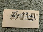 1941 New York Congressman Thomas H. Cullen Autographed Signed Cut Dated