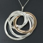 And Co. 1837 Interlocking Large Circle Pendant Necklace Silver 925 Tf2801