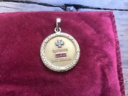 French Alphonse Augis Love Token Pendant 18kt Very Heavy Rare Weight And Patina