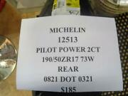 1 New Michelin Pilot Power 2ct 190 50 17 73 Rear Tires 12513