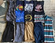 Lot Of 12 Youth Boys Summer Clothes Size Large 10/12 Shorts Shirts Nice