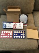 2008 United States Mint And Mint Silver Proof Set Also P And D Uncirculated Sets