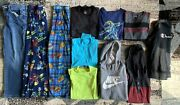 Lot Of 12 Youth Boys Clothes Winter Size Large 10/12 Jeans Shirts Hoodies Nike