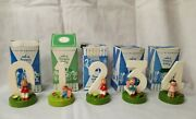 1960and039s Sevi Wood Birthday Cake Toppers Handmade In Italy 5 In Original Boxes