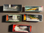Rapala 5 Piece Balsa Fishing Lure Lot. Made In Finland And Ireland
