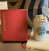 Starbucks Crystals Ornament Christmas 2014 Holiday New Limited Edition