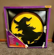 Vintage Atico Lighted Halloween Witch On Broom Plastic 20andrdquo Works
