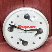 Snap-on Tools Wrench Wall Clock Mechanic Repair Shop Sign Advertising 14