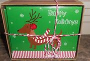 20 Count- Dachshund 🎁 Christmas Boxed Cards New Wiener Dog Reindeer Holidays