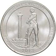 2013 P Parks Quarter Atb Perryand039s Victory Peace Memorial Bu Cn-clad Us Coin
