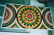 5and039x2.5and039 Marble Coffee Table Top Malachite Pietra Dura Inlay Antique Home Decor Y