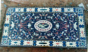 5and039x2.5and039 Marble Coffee Table Top Malachite Pietra Dura Inlay Antique Home Decor A