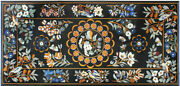 5and039x2.5and039 Marble Coffee Table Top Malachite Pietra Dura Inlay Antique Home Decor L