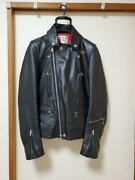 Lewis Leathers Double Riders Jacket Coat 402t Lightning Menand039s 32 Rare From Japan