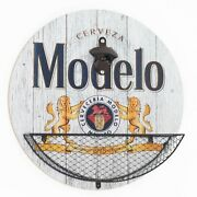 Modelo Bottle Opener And Cap Catcher Home Bar Game Room Man Cave Wall Decor