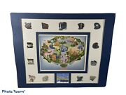 Disneyland Attractions Of The Past Series Pin Set With Map Rare