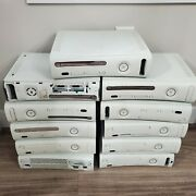 Lot Bundle 11 Untested White Microsoft Xbox 360 Video Game Consoles 3569 Repair