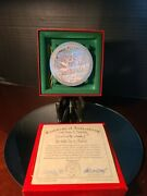 Anna Perenna 7 Swans A Swimming Ornament With Coa A380/5000 P.buckley Moss
