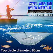31and039and039 Foldable Prawn Minnow Shrimp Drop Fishing Net Pier Harbour Pond Mesh Tool