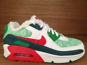 Nike Air Max 90 Se Christmas Sweater Shoes Mens Size 11 Dc1621 100