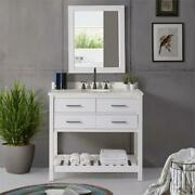 Harrison 36w White Wood Vanity Cabinet Only