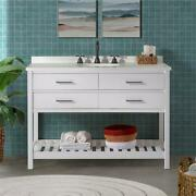 Harrison 48w White Wood Vanity Cabinet Only