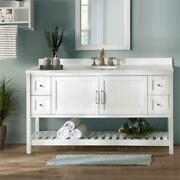 Bennet 60w White Wood Vanity Cabinet Only