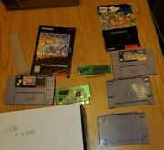 Super Nintendo Mega Man X3 And Pocky And Rocky, Both With Manuals