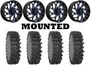 Kit 4 System 3 Xm310r Tires 36x9-20 On Fuel Runner Blue D778 Wheels Can