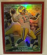 2009 Aaron Rodgers Topps Chrome Red Refractor 15/25 Green Bay Packers Tc75