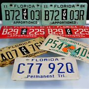Florida Apportioned Tags Vehicle License Plates Trailer Truck Lot Of 7