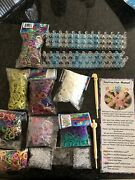 Genuine Rubber Band Rainbow Loom Kit Two Looms Lots Of Bands And Connectors