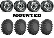 Kit 4 Sti Outback Max Tires 28x10-14 On Fuel Anza Gray D558 Wheels Pol