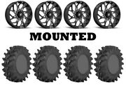 Kit 4 Sti Outback Max Tires 36x9-20 On Fuel Runner Black D741 Wheels Can